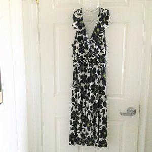 Evan Picone Navy Floral Halter Style Dress